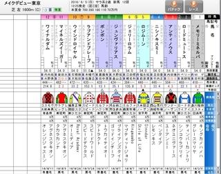 6月5日 東京5R 出走表.jpg
